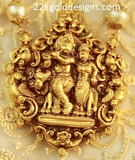 Krishna pendant archives 22kgolddesigns nakshi sri krishna radha pendant aloadofball Gallery
