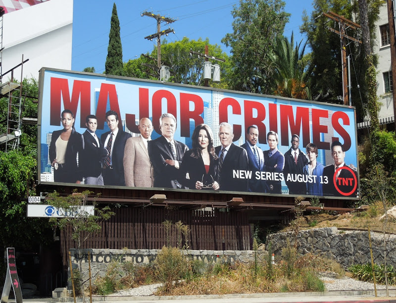 Major Crimes series premiere billboard