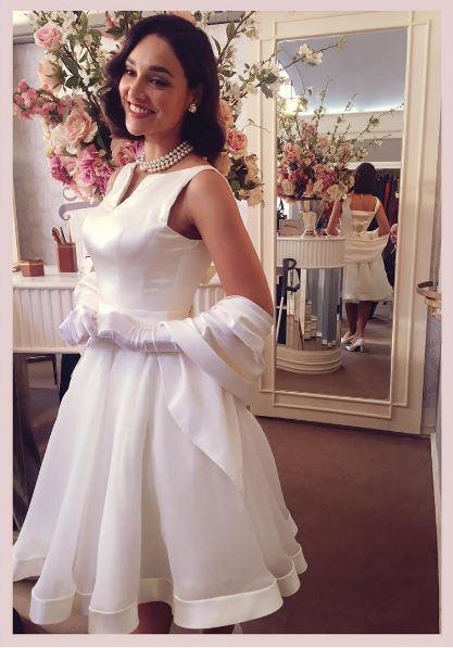 Vestido de noiva  Filomena (Debora Nascimento) Eta mundo bom, figurino