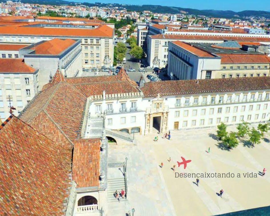 Pátio da Universidade de Coimbra visto da Torre da Cabra.
