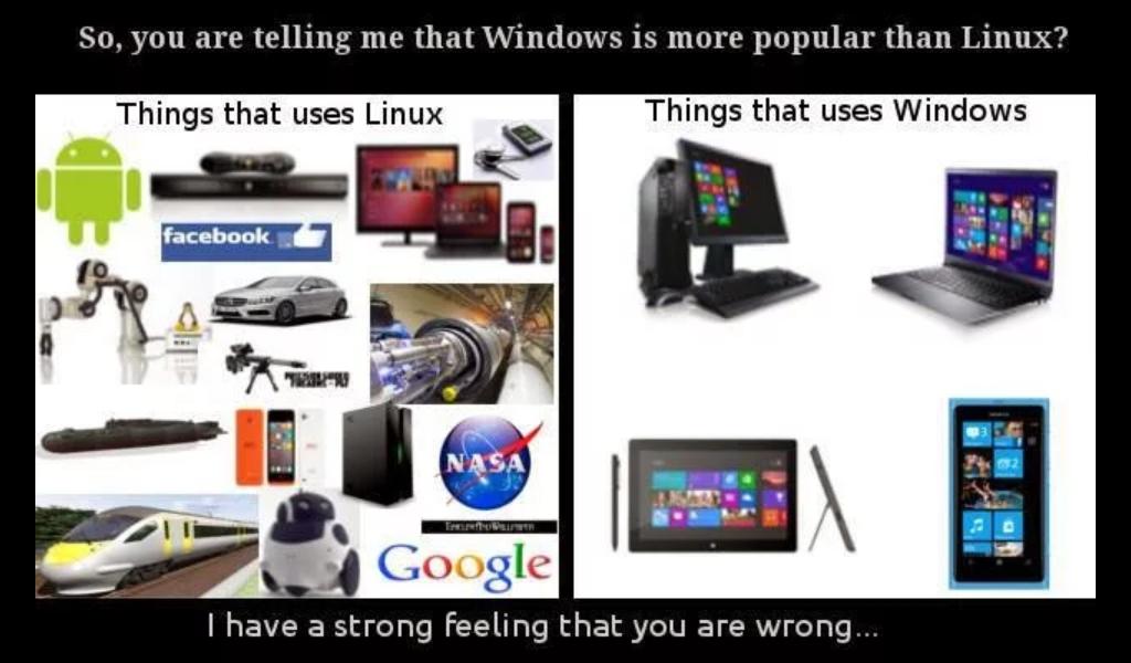 Masih Berpikir Windows Lebih Populer Dibanding Linux? SALAH !