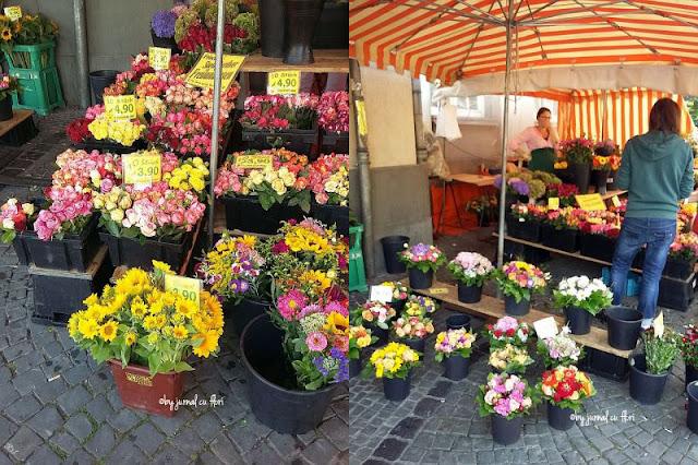 piata saptamanala de marti stand cu flori