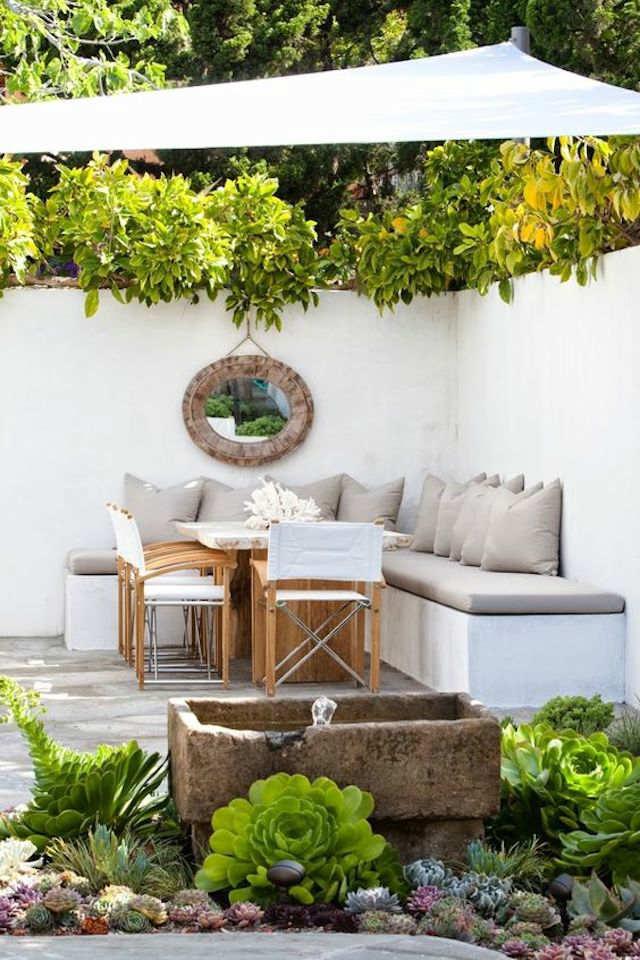 4 toldos originales (y low cost) para tu terraza o balcón. Toldo con vela de sombreo