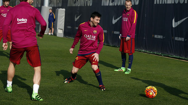 Messi se entrena sin problemas en la Ciutat Esportiva