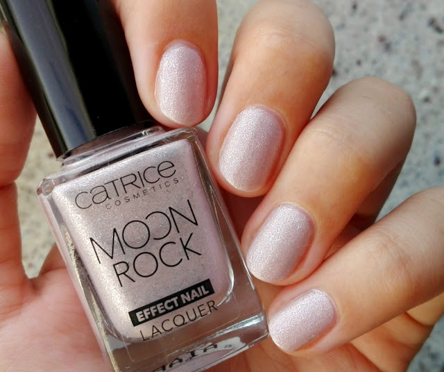 Catrice Moon Rock Effect Nail Lacquer 01 Silky Way Swatch