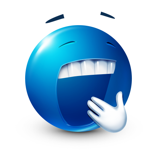 Yawning Blue Sticker