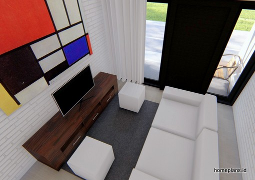A Desain Rumah Micro 35x10 M2 Kode 111