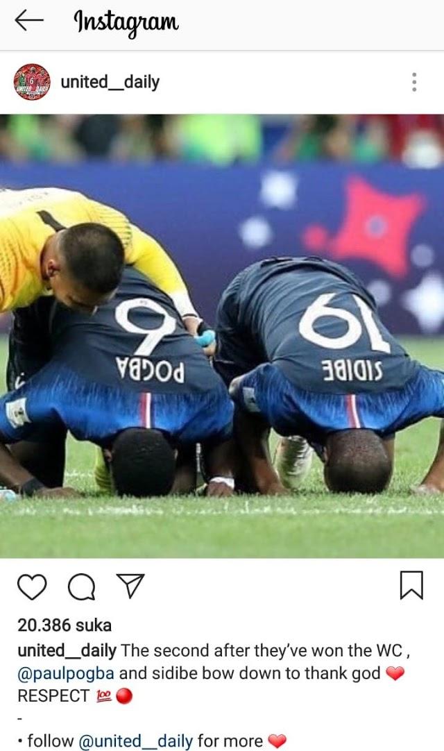 """Diiringi Selebrasi Sujud Syukur, Akhirnya, Mimpi """"Haji"""" Pogba Juarai Piala Dunia Terwujud Juga"""