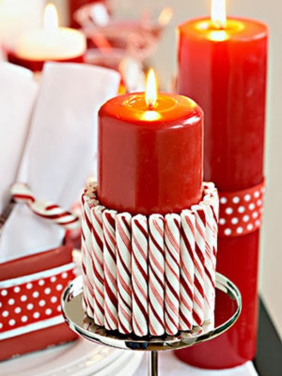 candy cane wedding centerpiece