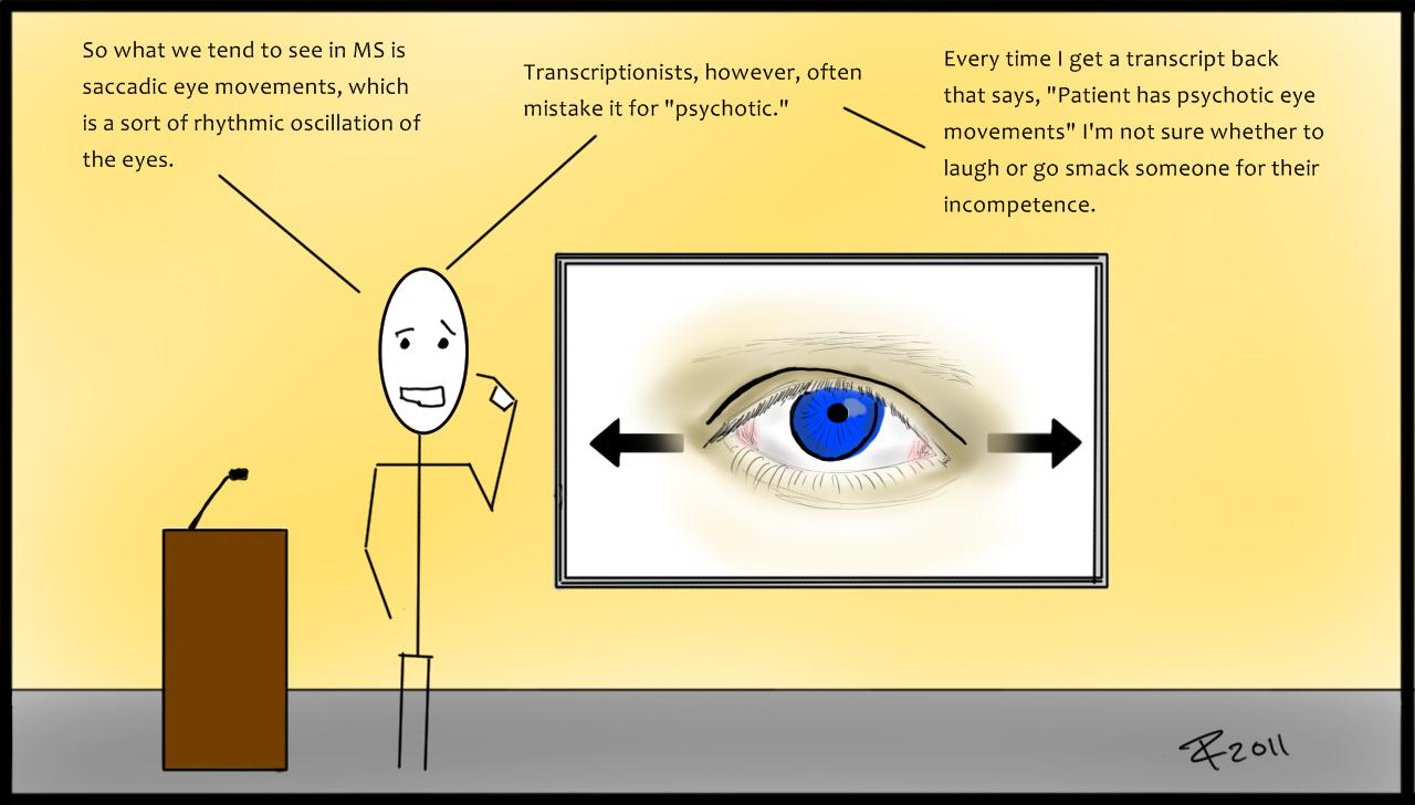 Indeterminate Causality Eye Movements