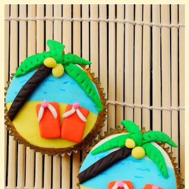 DIY Beach Summer Party Cupcakes