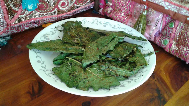 images of Crispy Kale Recipe /Baked Kale Chips Recipe / Kale Chips Recipe