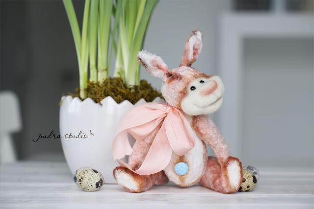 funny bunny, handmade gift