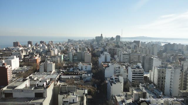Vista panorâmica de Montevideu - Uruguai