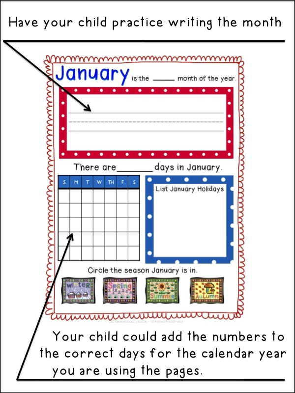Free Months Of The Notebooking Pages