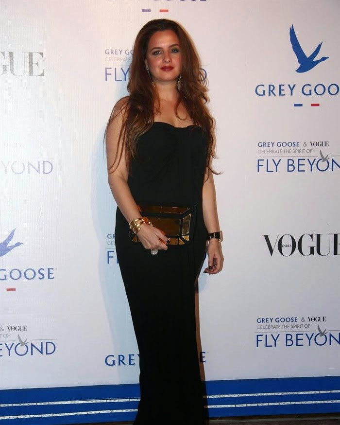 Laila Khan, Pics from Red Carpet of Grey Goose & Vogue's Fly Beyond Awards 2014