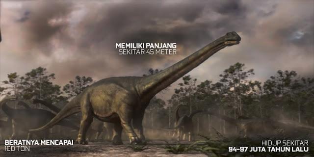 Argentinosaurus merupakan hewan darat terbesar