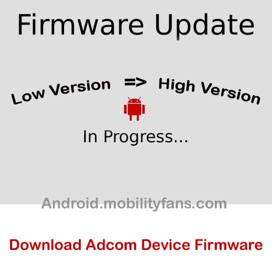 Download Adcom Firmware file