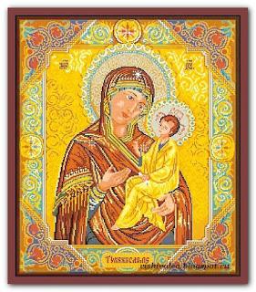 """Скачать схему вышивки Rogoblen 3.10 """"Icon with Madonna and Child"""""""
