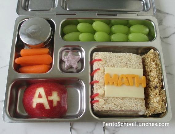 Back To School Notebook Bento Lunch. 1st day of school fun lunch.