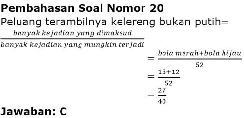 Contoh Soal Peluang Kelas 8 Smp Plus Jawaban Dan Pembahasan Juragan Les