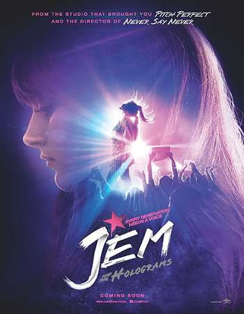 Poster Of Jem and the Holograms In Dual Audio Hindi English 300MB Compressed Small Size Pc Movie Free Download Only At worldfree4u.com
