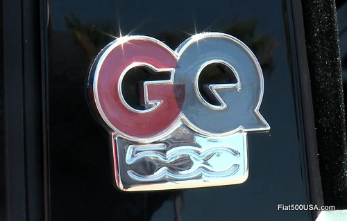 Fiat 500c GQ Edition Emblem