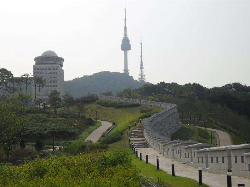 Aksi Tria Namsan Tower In South Korea