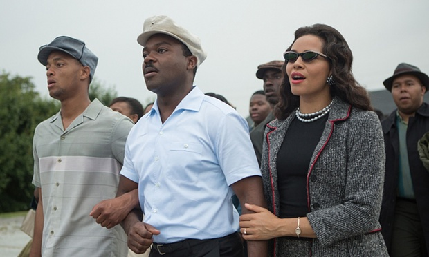 Oyelowo, centre, as Martin Luther King in Selma