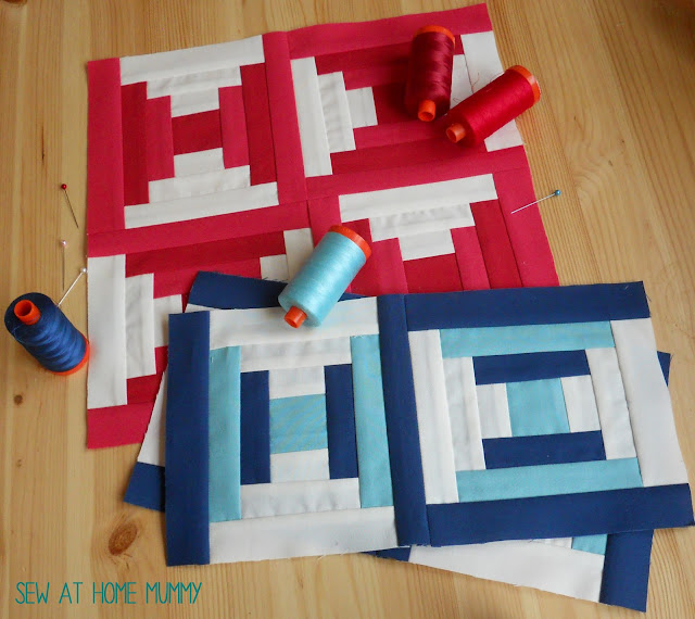 Courthouse Blocks - free quilt along pattern via Sew at Home Mummy hosted by the Fat Quarter Shop