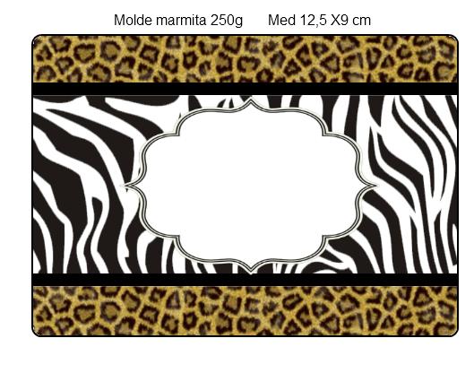 Etiquetas para Imprimir Gratis de Leopardo y Cebra.