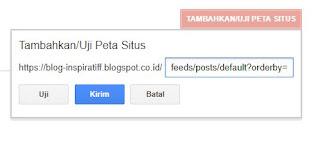 Penambahan Sitemap di Webmaster Tools