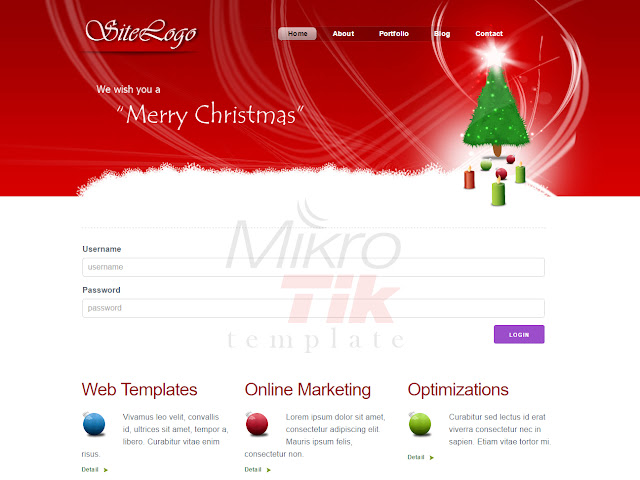 Free Download MikroTik Hotspot Login Template Christmas xmas natal