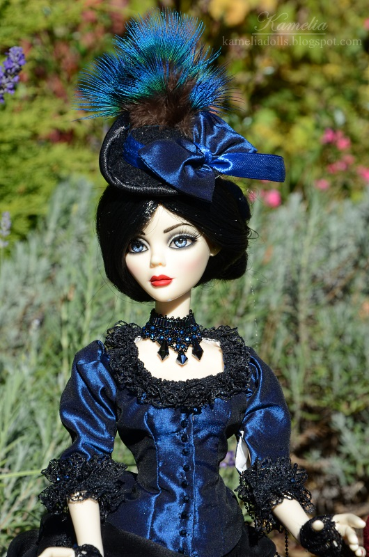 Navy blue victorian dress