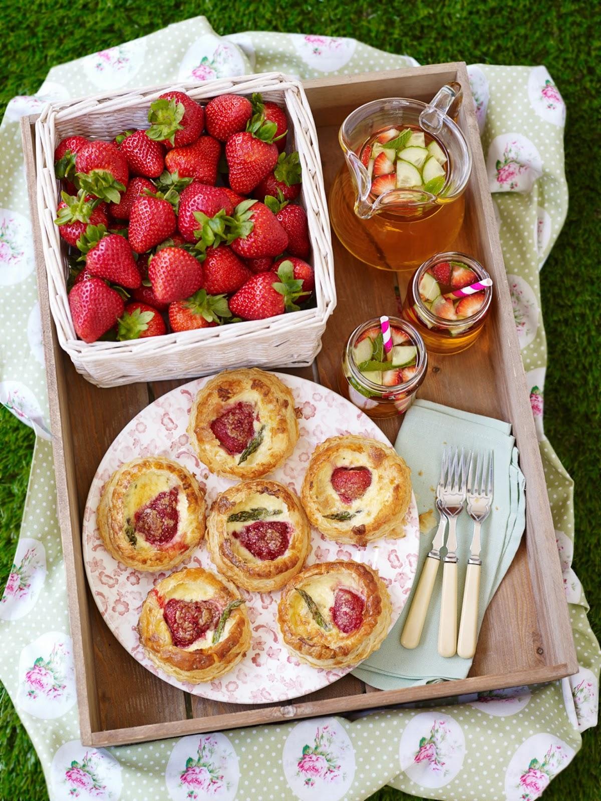 BerryWorld Strawberry And British Asparagus Mini Quiches.