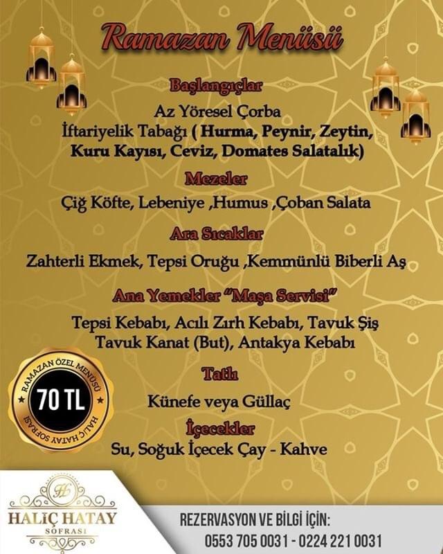 haliç hatay sofrası iletişim haliç hatay sofrası bursa iftar mekanları 2019 bursa iftar yerleri
