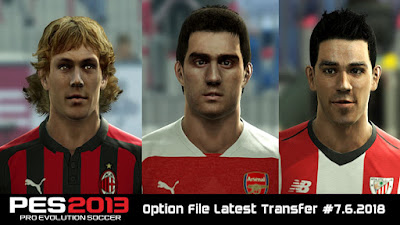 PES 2013 Next Season Patch 2019 Option File 06/07/2018 Season 2018/2019