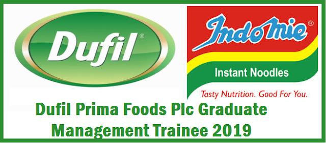 Dufil Prima Foods Plc Graduate Management Trainee 2019