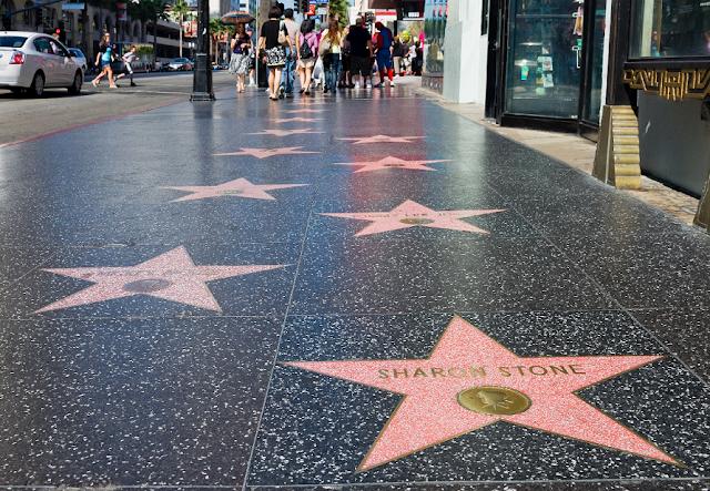 Calçada da Fama em Hollywood em Los Angeles