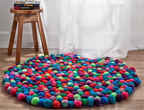 Φτιάξτε εκπληκτικά χαλιά pom-pom μόνοι σας + super Ιδέες!