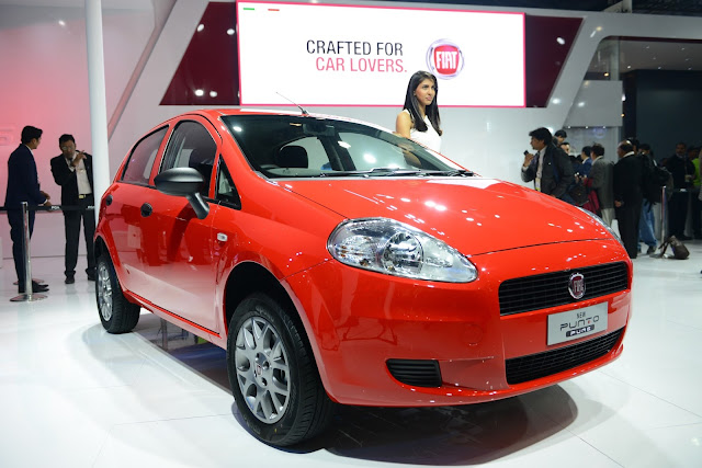 Fiat Punto Pure at Auto Expo 2016 New Delhi