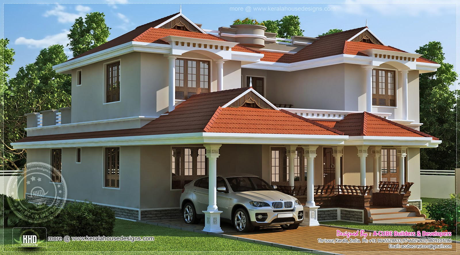Beautiful home exterior in 2446 square feet   House Design ... on Beautiful Home Decor  id=71866