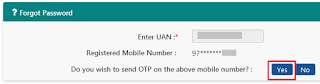 UAN-Forgot Password