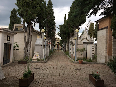 The entrance to the cemetery in my grandfather's Italian hometown.