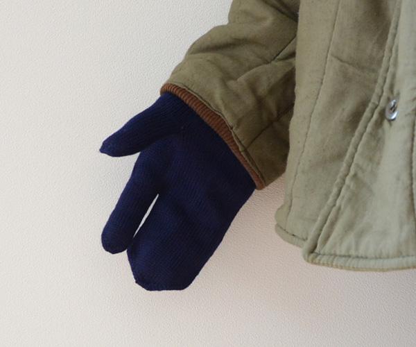 デッドストックイタリア軍ミリタリーウールニットミトングローブヴィンテージ手袋防寒刺し子FUNS福島