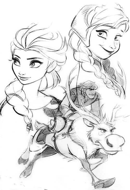 disney frozen sven drawing - photo #12