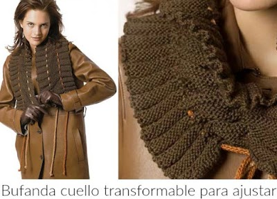 Bufanda cuello transformable acordeon