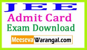 JEE (MAIN) 2018 Admit Card Download