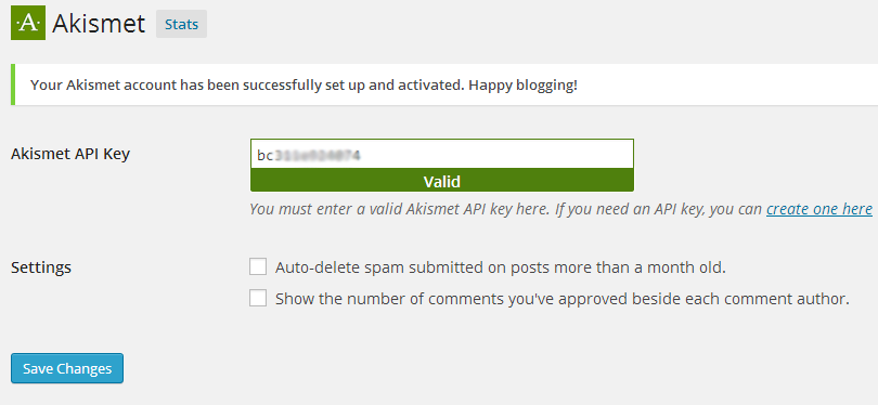 Get Free Akismet API Key for Personal WordPress Blog - BloggerSpice – Smart Money, How-to ...
