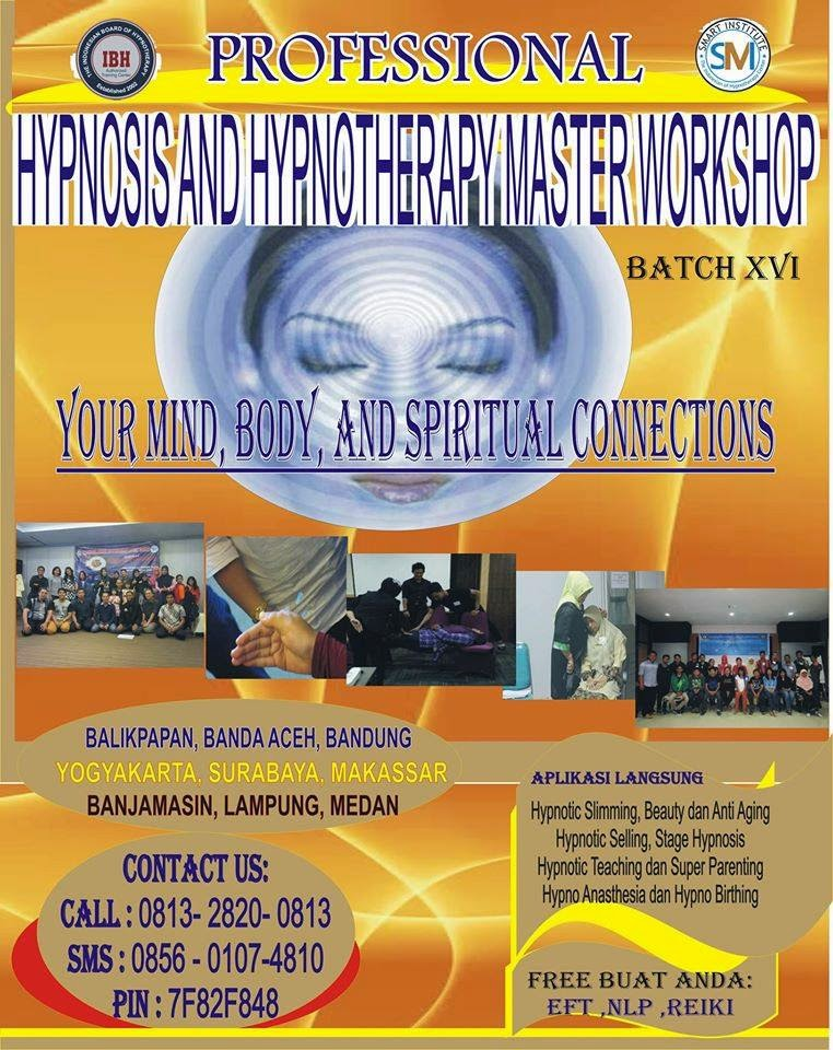 2 DAYS WORKSHOP PROFESSIONAL HYPNOSIS AND HYPNOTHERAPY MASTER
